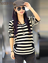 Women's Casual Micro-elastic Medium Long Sleeve Pullover (Knitwear) SF7B70