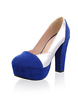 Women's Shoes Cone Heel Comfort/Round Toe Pumps/Heels Outdoor/Office & Career/Dress/Casual Black/Blue/Red