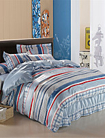 H&C 100% 800TC Duvet Cover Set 4-Piece Solid Color NWY11
