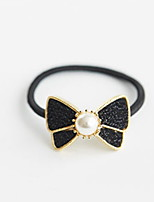 Women Han Edition Sequins Metal Pearl Decoration Bow Hair Bands