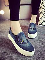 New Arrival Spring Autumn Style Walking Denim Canvas Sneakers Running Shoes Women Black/Light Blue/Dark Blue