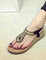 Women's Shoes Flat Heel Round Toe Sandals Casual Black/White
