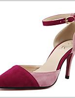 Women's Shoes Suede Stiletto Heel Heels/Pointed Toe Pumps/Heels Casual Black/Blue/Pink