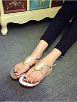 Women's Shoes  Low Heel T-Strap Sandals Casual Black/Silver