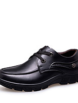 Men's Shoes Casual Leather Oxfords Black/Brown/Yellow