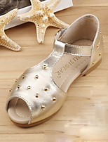 Girls' Shoes Dress T-Strap Glitter Sandals Red/Gold