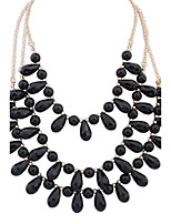 Women's European Style Fashion Multilayer Acrylic Necklace