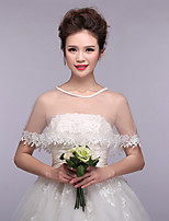 Gorgeous Women's Wedding Wraps Ponchos Sleeveless Lace Bridal Bolero Shrug