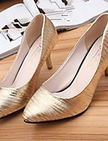 Women's Shoes Stiletto Heel Pointed Toe Pumps/Heels Dress Black/Pink/Silver/Gold