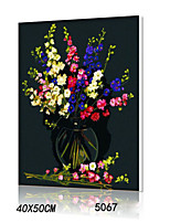 DIY Digital Oil Painting With Solid Wooden Frame Family Fun Painting All By Myself      The Vase 5067