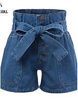 LIVAGIRL®Women's Shorts Fashion Loose Elastic Waist Jean Short Europe Style Summer Casual Shorts