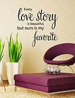 Wall Stickers Wall Decals Style Love Story English Words & Quotes PVC Wall Stickers