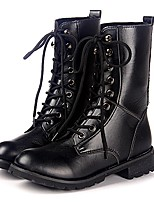 Amir 2015 Hot Sale Women's Shoes Low Heel Combat Boots Outdoor/Casual Black