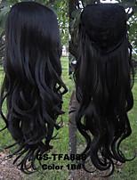 New Brand Negro Women 3/4 Half Wig Natural Black Wave Wig Synthetic Hair Pad Rambut