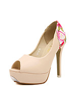 Women's Shoes   Stiletto Heel Heels/Peep Toe Pumps/Heels Casual White/Neutral