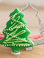 kerst pine boomvorm cookie cutters fruit gesneden mallen roestvrij staal