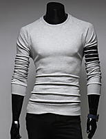 Men's Casual/Work Long Sleeve Regular T-Shirt