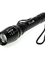 Torce LED - LED - Campeggio/Escursionismo/Speleologia - Messa a fuoco regolabile 5 Modo 1600 lumens Lumens Cree XM-L T6 Batteria Altro T