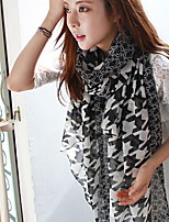 The Scarfchequered With Black And White Pattern Silk Scarves Voile