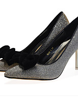 Women's Shoes Glitter Stiletto Heel Closed Toe Pumps/Heels Office & Career/Party & Evening/Dress Black/Purple/Gold