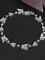 Party Platinum Plated Link/Chain Bracelet Big Shine Real Zircon Bracelet
