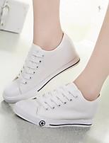 Zapatos de mujer - Tacón Cuña - Comfort / Punta Redonda - Sneakers a la Moda - Exterior / Casual - Tela -Negro / Azul / Blanco /