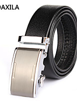 Men Vintage/Party/Work/Casual Calfskin Waist Belt automatic buckle first layer of cowhide leather business casual wild