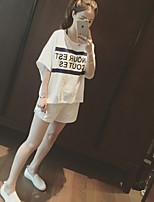 Women's Casual Micro-elastic ½ Length Sleeve Regular Set (Cotton)