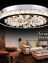 Crystal Flush Mount/LED Modern/Contemporary Living Room/Bedroom/Dining Room/Study Room/Office/Kids Room/Hallway Metal