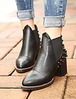 Women's Shoes Chunky Heel Combat Boots/Pointed Toe Boots Casual Black