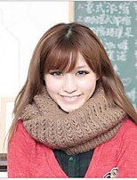 Women Cute Collar Thickening In Winter Wool Blend Scarf