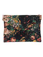 Women PU Leather Floral Print Rivet Envelope Clutch Bag Messenger Bag