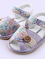Baby Shoes Casual Fabric Sandals Purple/Red