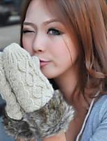 Women Neck hung Wool Gloves Cotton Blend Gloves