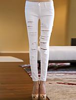 Pantaloni Da donna Casual Cotone/Tessuto Oxford