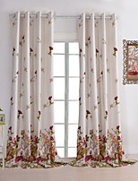 (One Panel) The Flying Red Flowers Room Darkening Lined Curtain
