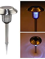 4-LED Stainless Steel Solar Outdoor Garden UV LED Bug Killer Stake Light