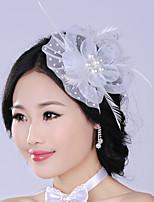 Veren/Imitatie Parel/Net Vrouwen Helm Bruiloft/Speciale gelegenheden Bloemen/Hair Clip Bruiloft/Speciale gelegenheden 1 Stuk