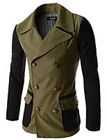 Men's 2015 Autumn Slim Casual Long Sleeved Dust Coat