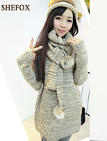 Women's Casual Stretchy Medium Long Sleeve Pullover (Knitwear) SF7D05