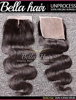 Top Closure Peruvian Body Wave Middle Part Lace Closure (4x4