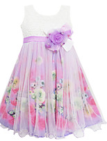 Girls Multi-Layers Flower Tulle Party Wedding Pageant Children Clothes Dresses (Tulle+Cotton)