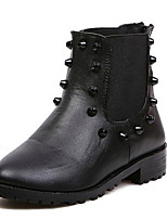 Women's Shoes Low Heel Fashion Boots Boots Casual Black/White