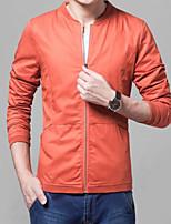Men's Casual Pure Long Sleeve Regular Jacket