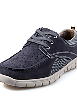 Men's Shoes Outdoor Leather/Tulle Fashion Sneakers Blue/Brown/Gray/Khaki
