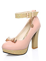 Women's Shoes Faux  Chunky Heel Heels/Round Toe/Closed Toe Pumps/Heels