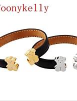 Toonykelly® Cute Animal Bear Fashionable Gold Silver Cuff Bracelet Bangle(1PC)