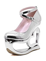 Women's Shoes Patent Leather Wedge Heel Platform Comfort Novelty Round Toe Pumps Party and Dress More Colors available
