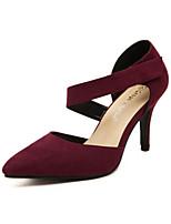 Women's Shoes  Stiletto Heel Heels/Pointed Toe Pumps/Heels Casual Black/Burgundy