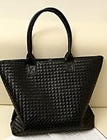 Women 's PU Sling Bag Tote - Black